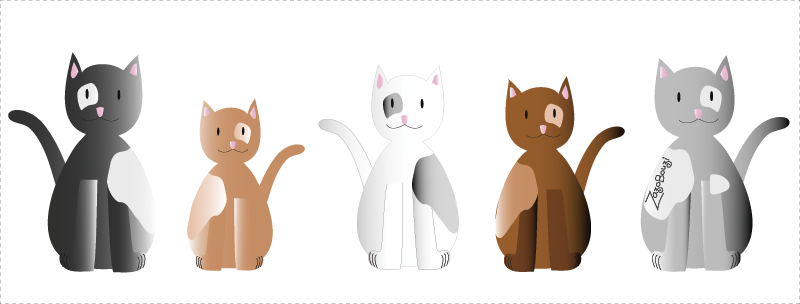 Chats personnages 1