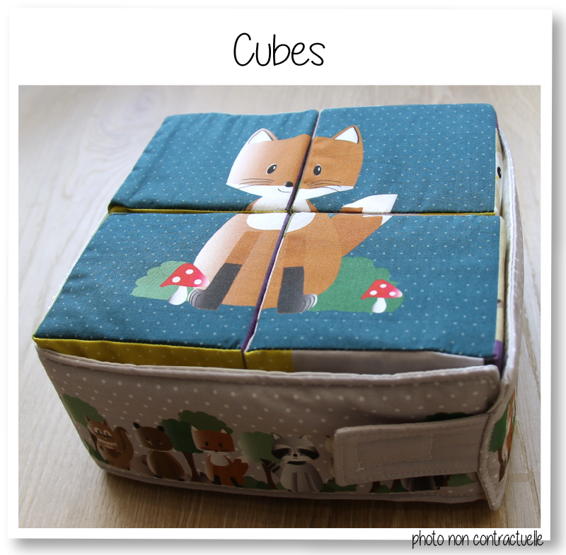 Cubes bleu 2