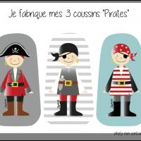 Kit 3 coussins pirates
