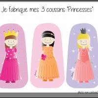 Kit 3 coussins princesses