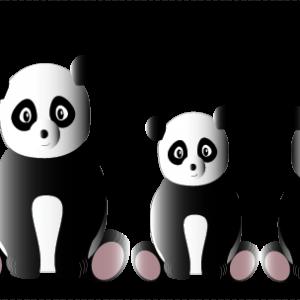 Personnages Pandas