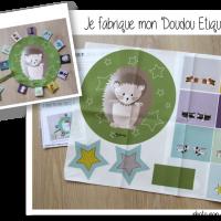 Photo kit doudous etiquettes herisson