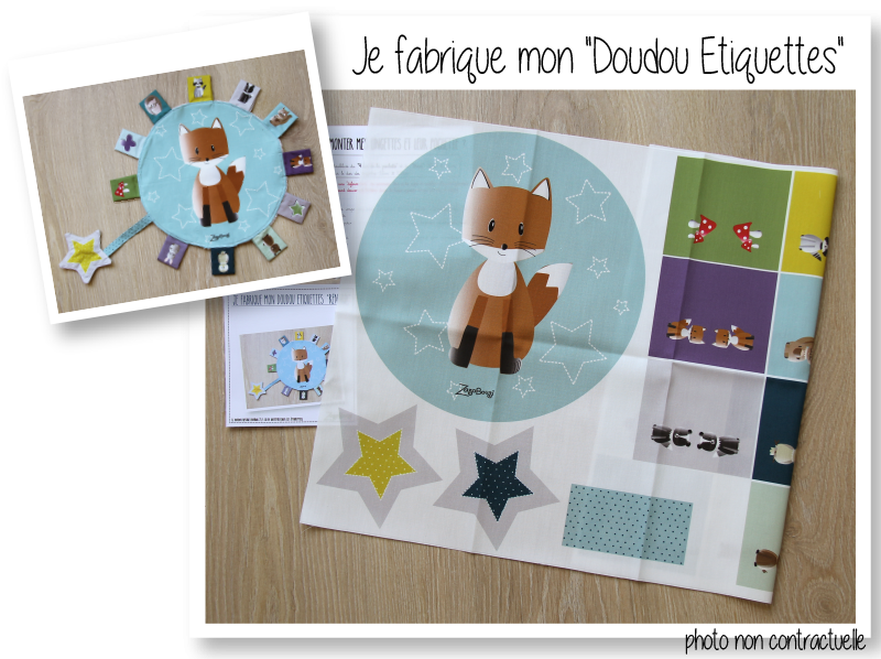 Photo kit doudous etiquettes renard