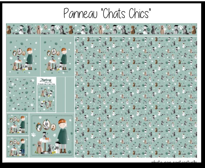 Photo kit panneau chats chics 2