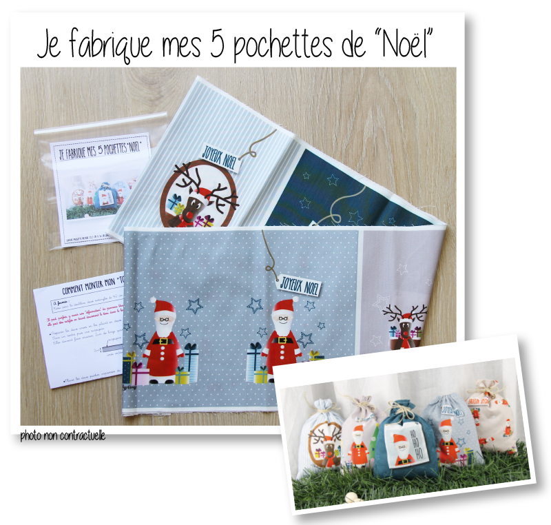 Photo kit pochettes noel pe