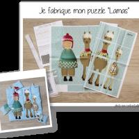 Photo kit puzzle lamas