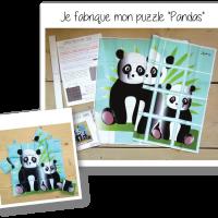 Photo kit puzzle pandas 2