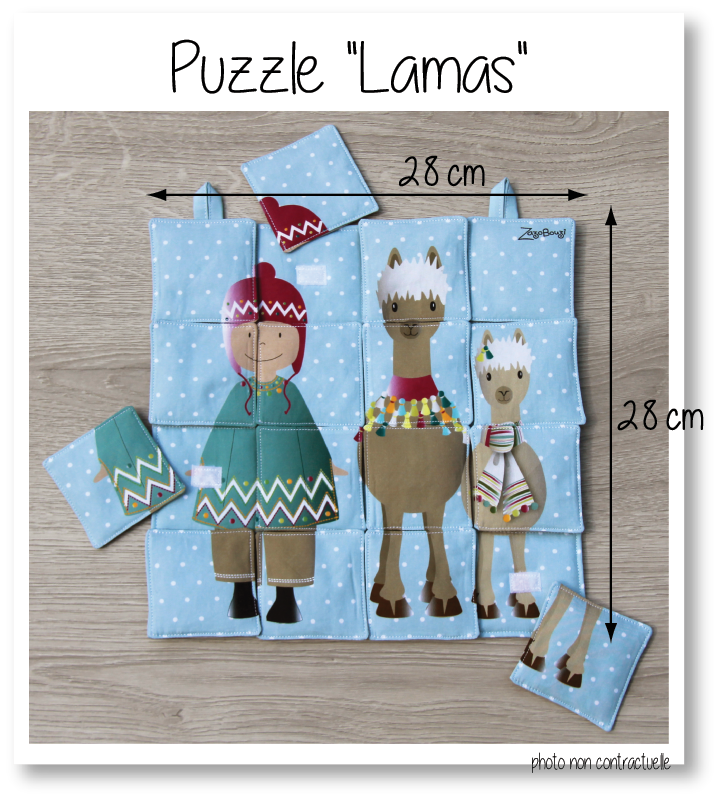 Photo puzzle lamas