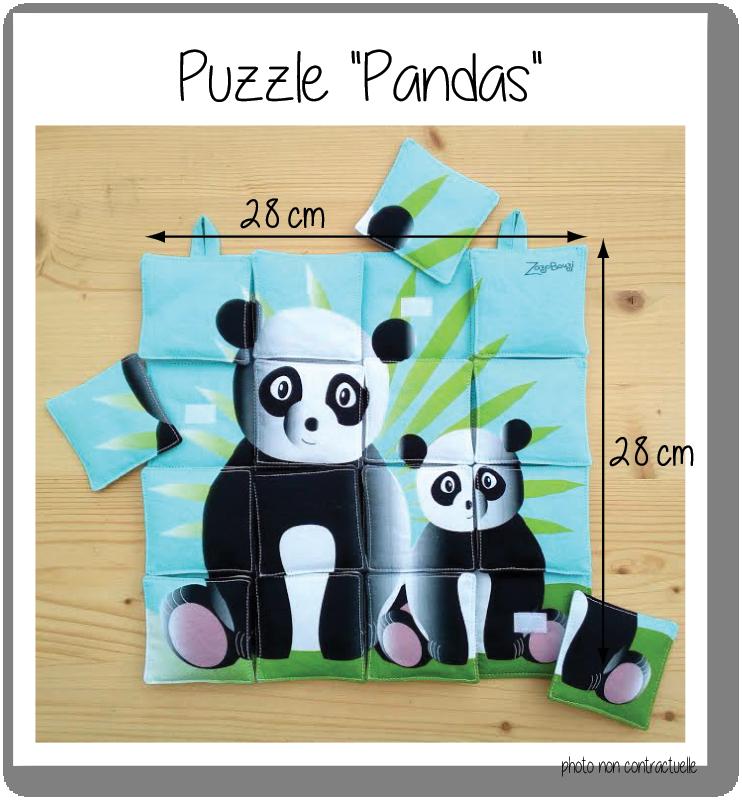 Photo puzzle pandas